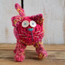 Koty Uszyte Ze Swetrów Ręcznie Robione Koty Sowy Ryby Zabawki